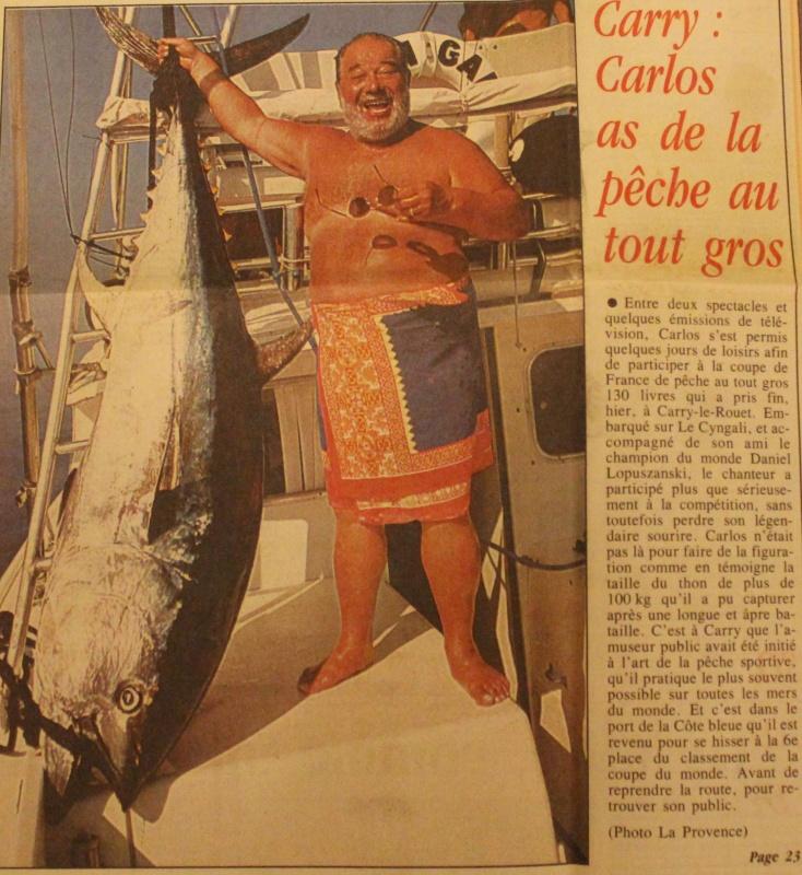 Pêche au thon hommage à Carlos